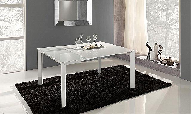 - Παρουσίαση της εταιρείας Riflessi για το Manhattan Extendable τραπέζι τραπεζαρίας στο λευκό χρώμα.