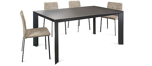 - Τραπέζι τραπεζαρίας Manhattan Extendable στο ανθρακί.