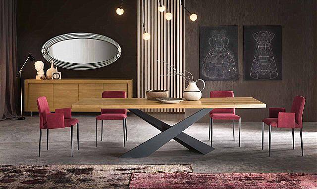 Τραπέζι τραπεζαρίας Riflessi Living Wood & Living Gold-Living Wood Top