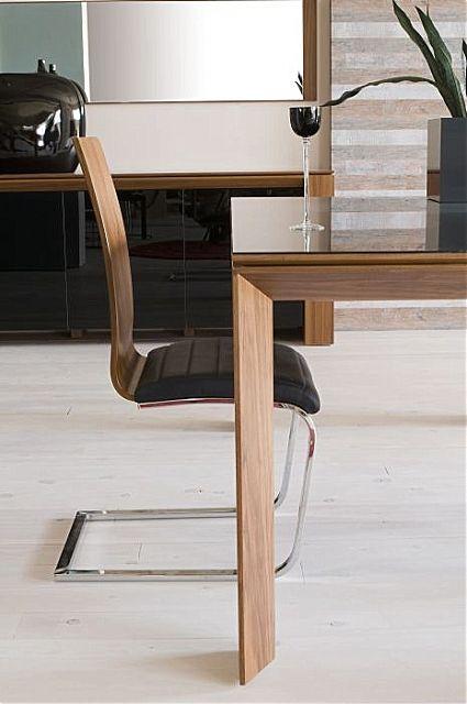 Τραπέζι τραπεζαρίας Oikia kantis Flat γυαλί-Flat γυαλί