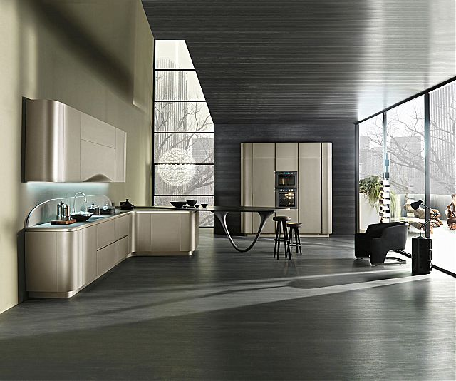 Κουζίνα μοντέρνα Snaidero Ola 20-Ola 20 grigio cemento