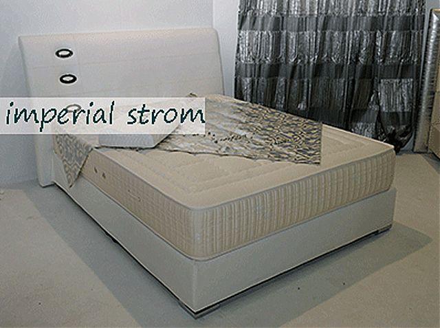 Κρεβάτι επενδυμένο Imperial Strom Αλίσια-Αλίσια