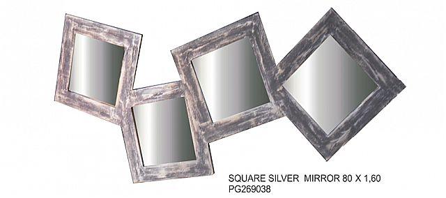 Καθρέφτης Gallerista by Repanis Square Silver-Square Silver