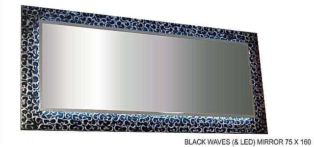 Καθρέφτης Gallerista by Repanis Black-Black Waves