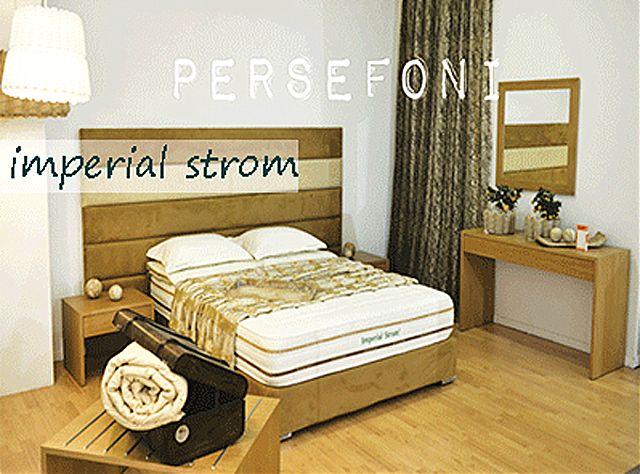 Κρεβάτι επενδυμένο Imperial Strom Περσεφόνη-Περσεφόνη