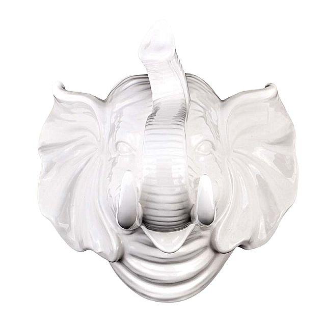 Άγαλμα/Γλυπτό Arva Ceramic White Elephant-White Elephant