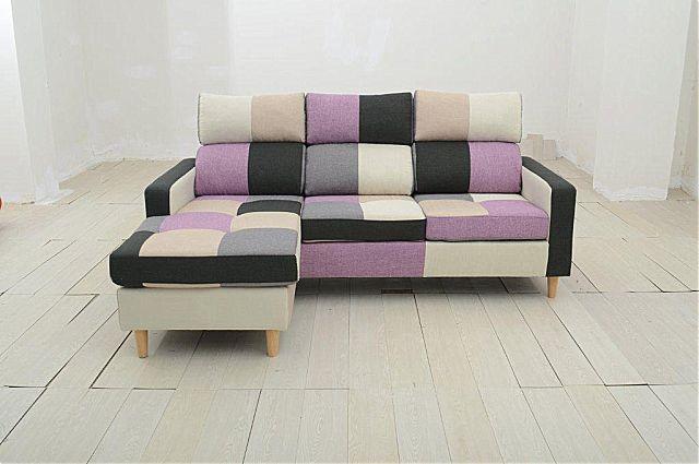 Καναπές γωνιακός Arva Purple M-Purple M Corner Sofa