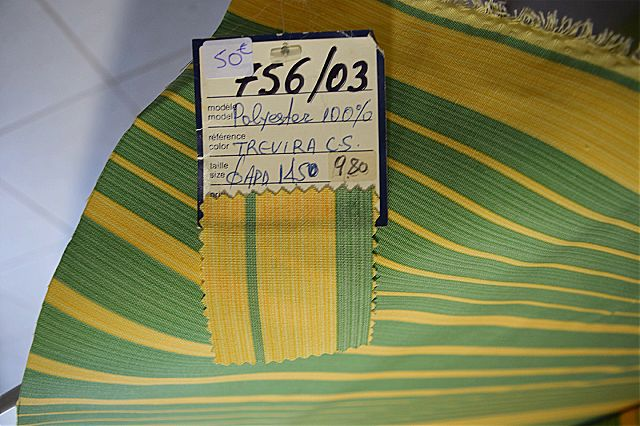 Ύφασμα επίπλωσης Arva Fabric Lines-Fabric Lines Yellow Green