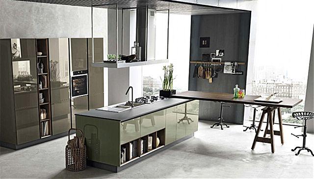 Κουζίνα μοντέρνα Stosa Alevè-Alevè Composizione 01