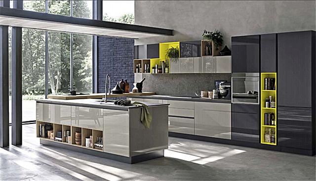 Κουζίνα μοντέρνα Stosa Alevè-Alevè Composizione 02