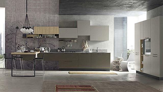 Κουζίνα μοντέρνα Stosa Alevè-Alevè Composizione 08