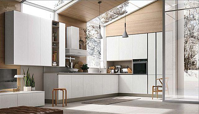Κουζίνα μοντέρνα Stosa Infinity-Infinity Diagonal 03 Nordic style