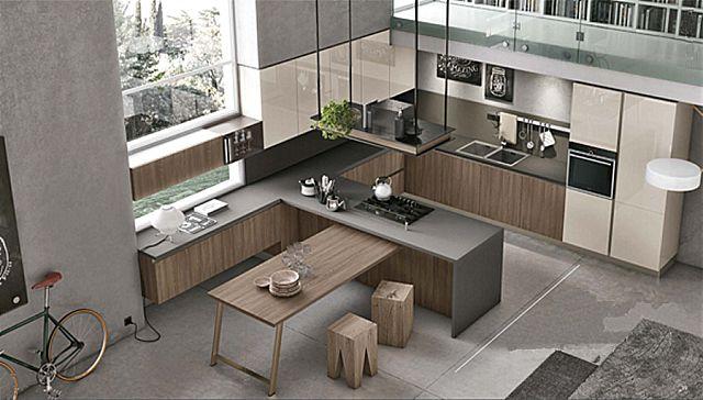 Κουζίνα μοντέρνα Stosa Infinity-Infinity Diagonal 05 Elegance style