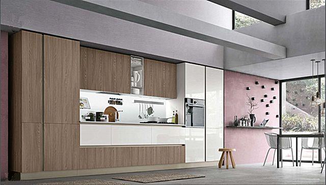 Κουζίνα μοντέρνα Stosa Infinity-Infinity Diagonal 06 Elegance style