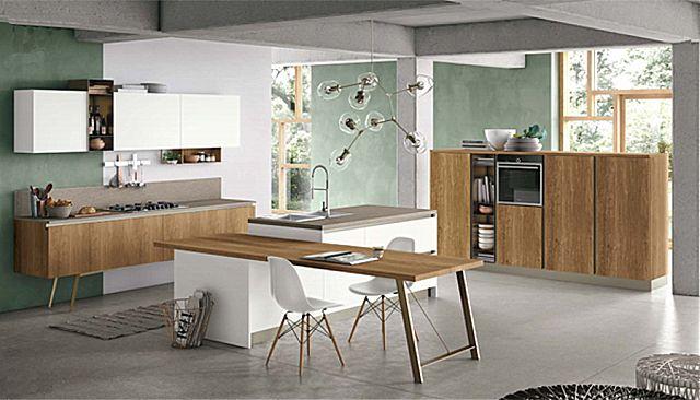 Κουζίνα μοντέρνα Stosa Infinity-Infinity Diagonal 11 Loft style