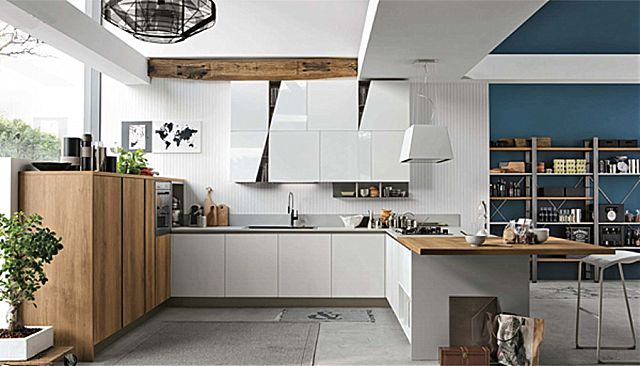 Κουζίνα μοντέρνα Stosa Infinity-Infinity Diagonal 12 Loft style