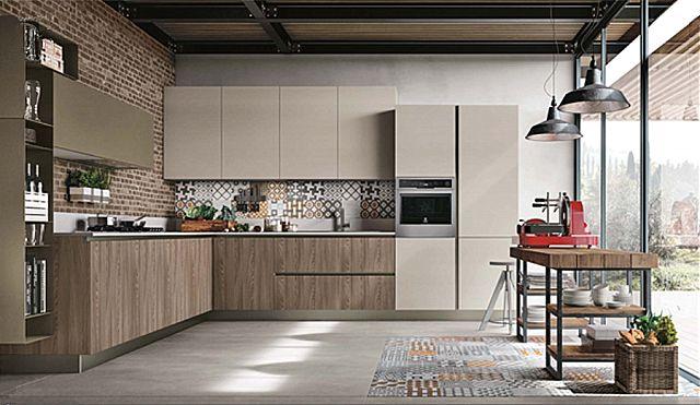 Κουζίνα μοντέρνα Stosa Infinity-Infinity Diagonal 13 Loft style
