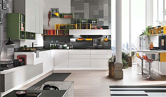 Κουζίνα μοντέρνα Stosa Infinity-Infinity Composizione 01