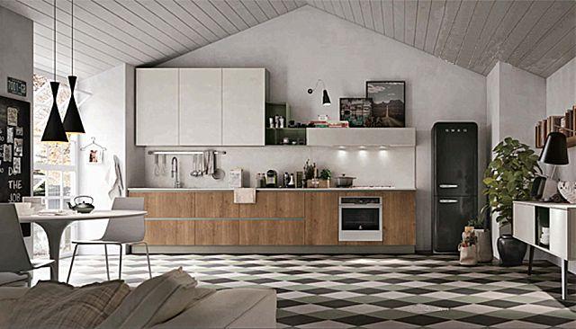 Κουζίνα μοντέρνα Stosa Infinity-Infinity Composizione 03