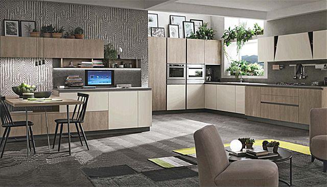 Κουζίνα μοντέρνα Stosa Infinity-Infinity Composizione 04