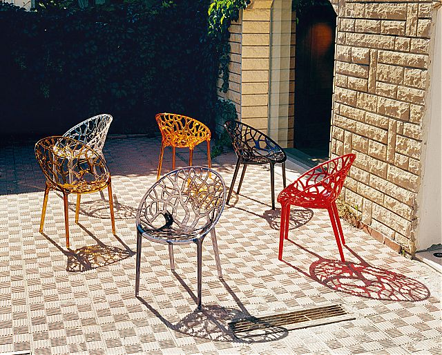 Πολυθρόνα κήπου Siesta Crystal Stacking armchair-Crystal
