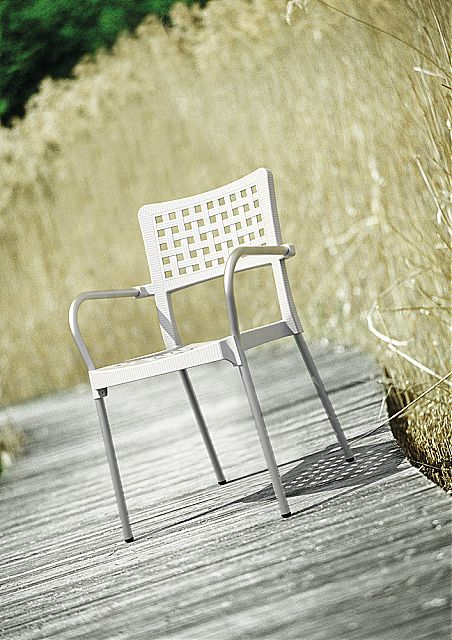 Πολυθρόνα κήπου Siesta Gala Stacking armchair-Gala