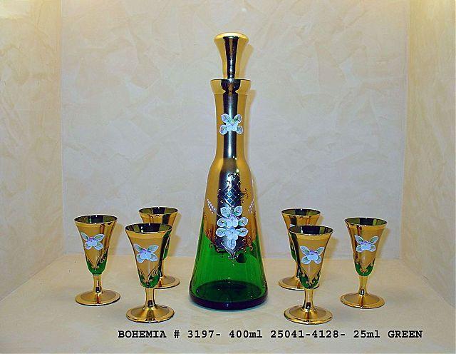 Σερβίτσιο ποτηριών Egermann Gold-Green