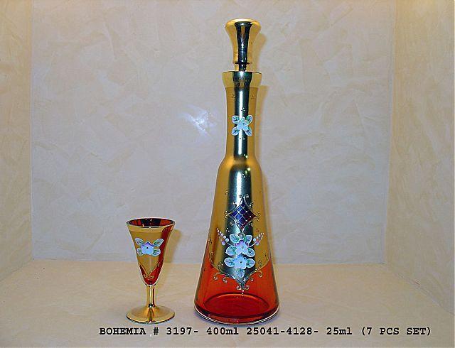 Σερβίτσιο ποτηριών Egermann Gold-Red