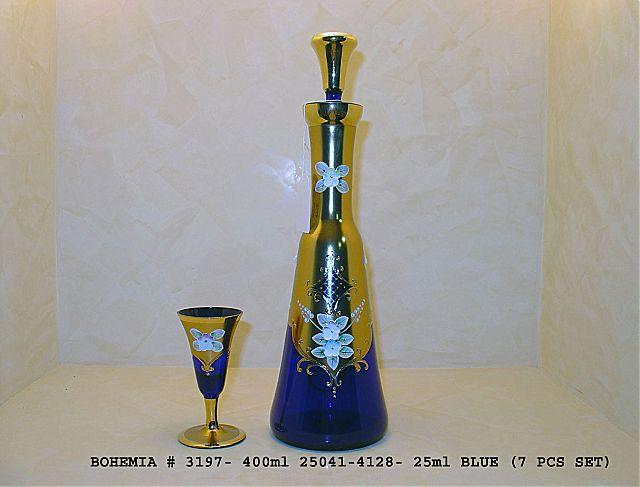 Σερβίτσιο ποτηριών Egermann Gold-Blue