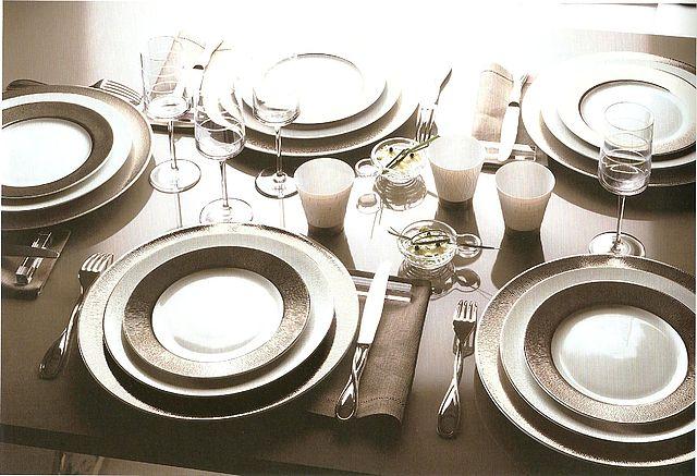 Σερβίτσιο πιάτων-φαγητού Limoges Bernardaud Dune-Dune