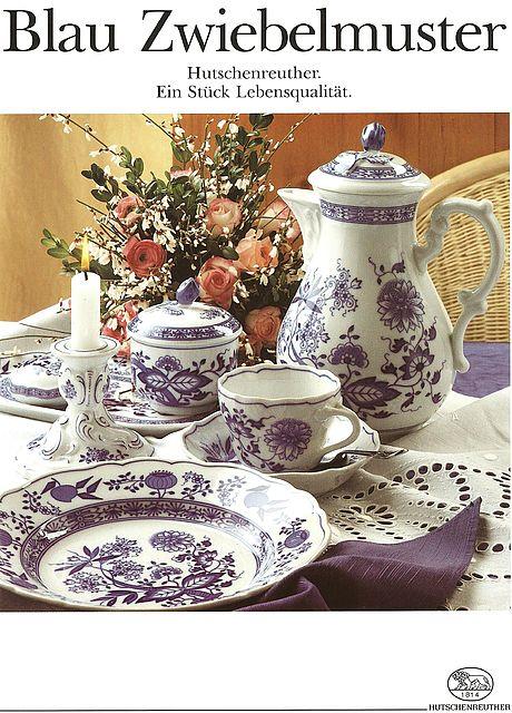 Σερβίτσιο πιάτων-φαγητού Hutschenreuther Μπλε κρεμμύδι (Blau Zwiebelmuster)-Μπλε κρεμμύδι (Blau Zwiebelmuster)
