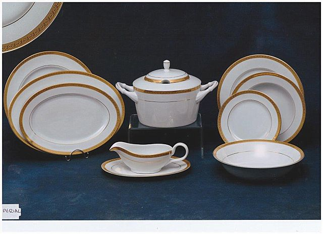 Σερβίτσιο πιάτων-φαγητού Christinholm Porcelaine Exclusive Edition Imperial Gold-Imperial Gold