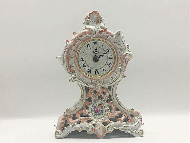 Ρολόι επιτραπέζιο Plaue porzellan Manufaktur Roze-Rose
