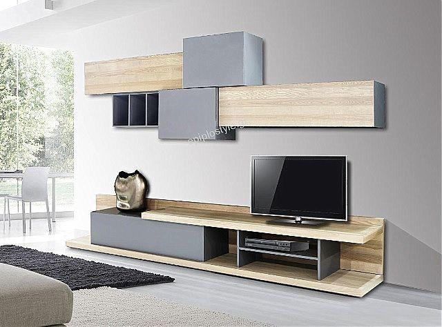 Συνθέση τοίχου σαλονιού Sofa And Style epiplostyle-forest