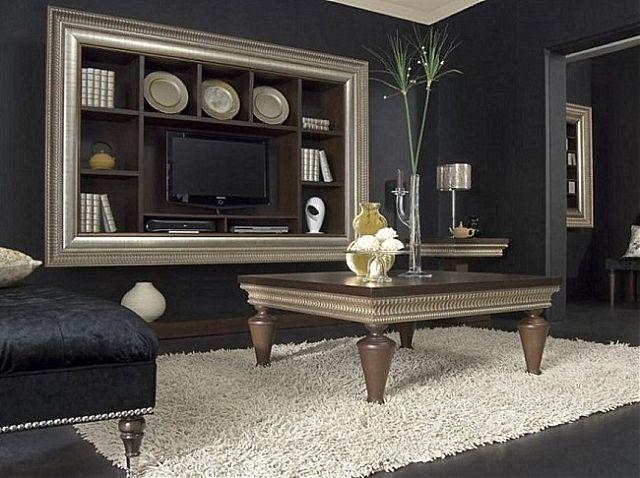 Συνθέση τοίχου σαλονιού Sofa And Style notos-glamour