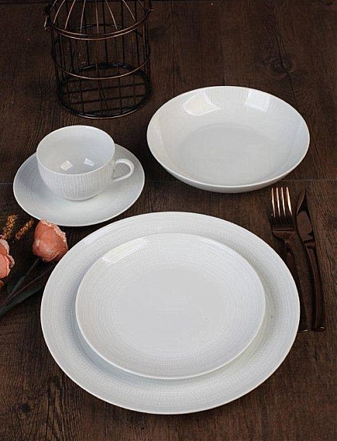 Σερβίτσιο πιάτων-φαγητού Cryspo Trio Dream-White Dream