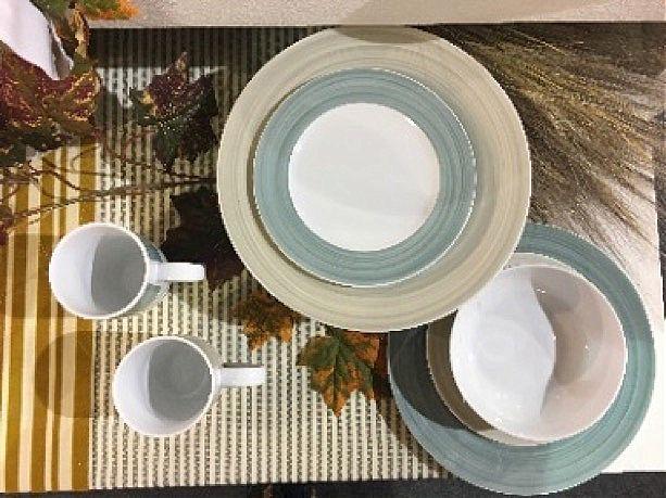Σερβίτσιο πιάτων-φαγητού Cryspo Trio Pinelies-Petrol