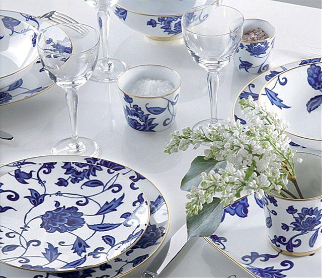 Σερβίτσιο πιάτων-φαγητού Limoges Bernardaud Prince Bleu-Prince Bleu