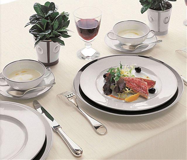 Σερβίτσιο πιάτων-φαγητού Limoges Bernardaud Cristal-Cristal