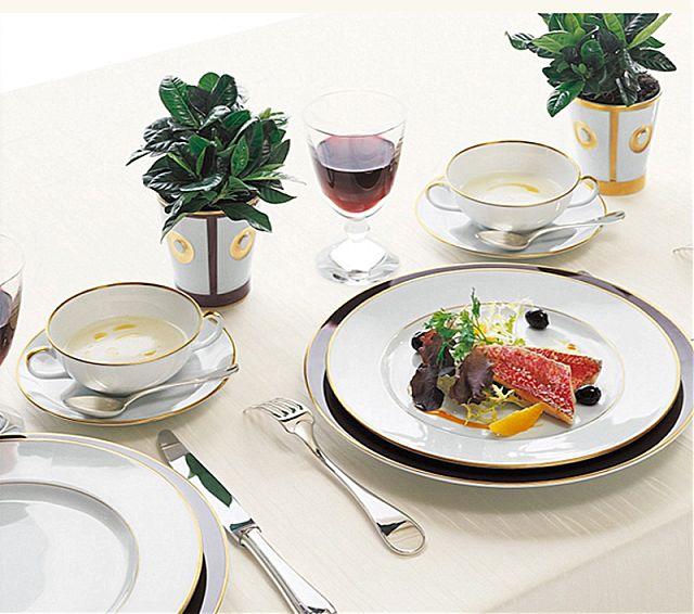Σερβίτσιο πιάτων-φαγητού Limoges Bernardaud Palmyre-Palmyre