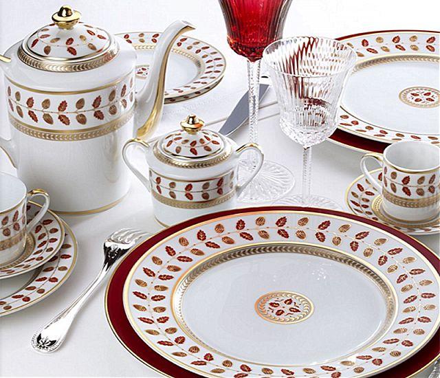 Σερβίτσιο πιάτων-φαγητού Limoges Bernardaud Constance Rouge-Constance Rouge