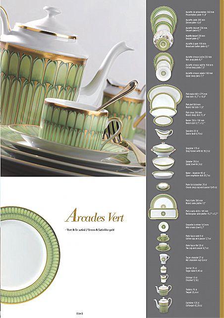 Σερβίτσιο πιάτων-φαγητού Phillipe Deshoulieres Arcades Vert-Arcades Vert