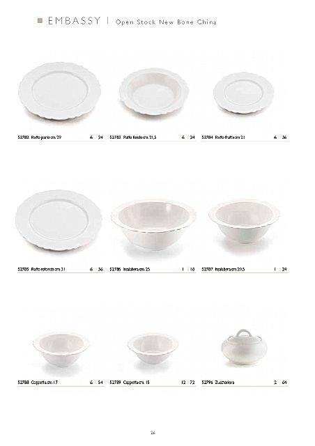 Σερβίτσιο πιάτων-φαγητού Fade Embassy-Bianco
