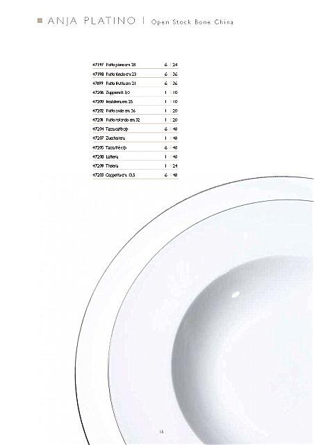 Σερβίτσιο πιάτων-φαγητού Fade Anja-Platino