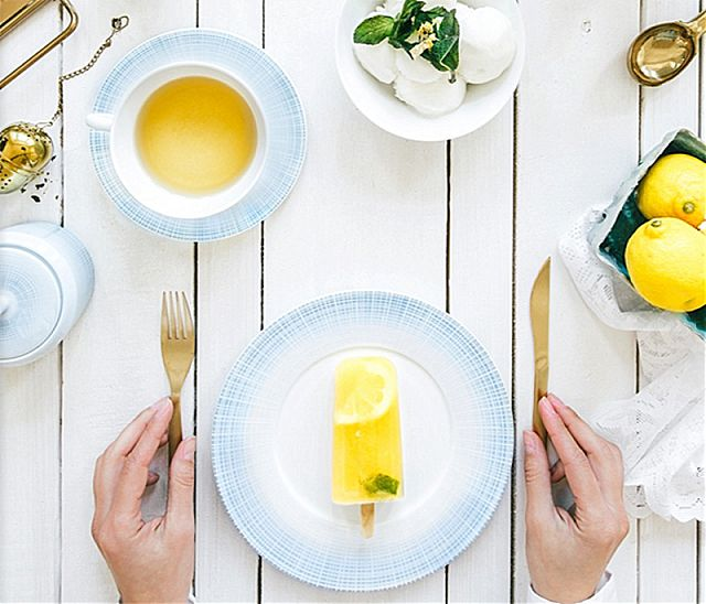 Σερβίτσιο πιάτων-φαγητού Limoges Bernardaud Saphir Bleu-Saphir Bleu