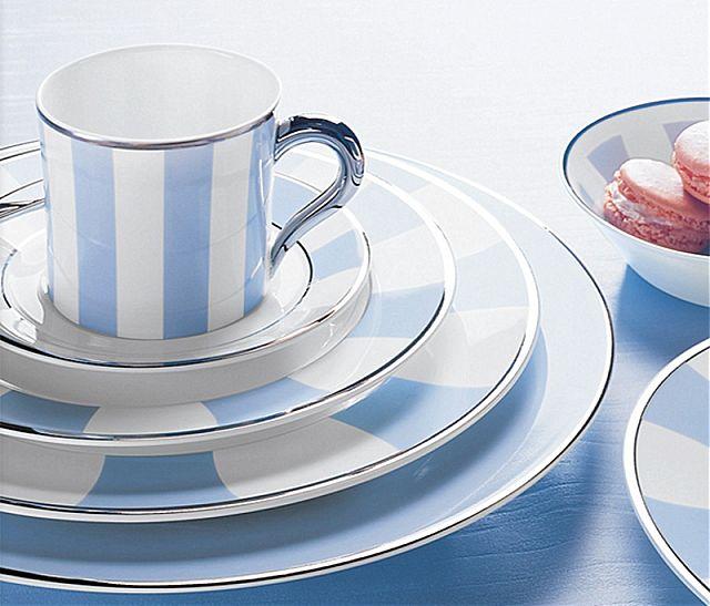 Σερβίτσιο πιάτων-φαγητού Limoges Bernardaud Galerie royale bleu wallis-Galerie royale bleu wallis
