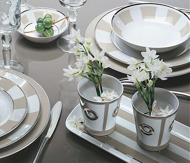 Σερβίτσιο πιάτων-φαγητού Limoges Bernardaud Galerie royale grege-Galerie royale grege