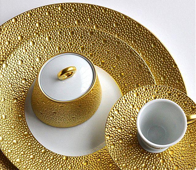 Σερβίτσιο πιάτων-φαγητού Limoges Bernardaud Ecume or-Ecume or