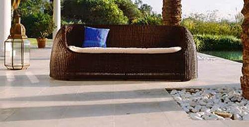 Καναπές Roberti Rattan Coconut-Coconut