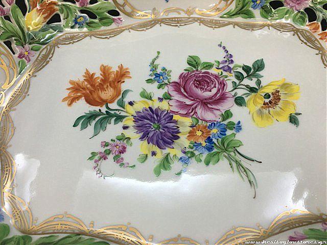 Κουπ διακοσμητικό Dresden Porzellan manufaktur Blume-8458